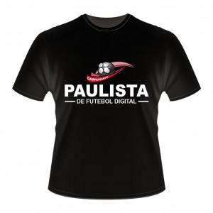Camiseta CAMPEONATO PAULISTA - FIFA-16-Preta-Frente