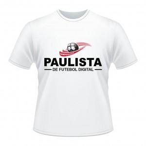 Camiseta CAMPEONATO PAULISTA - PES2016-Branca-Frente