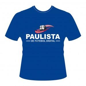 Camiseta CAMPEONATO PAULISTA - PES2016-Azul-Frente